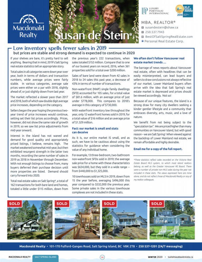 Salish Sea Real Estate Susan de Stein