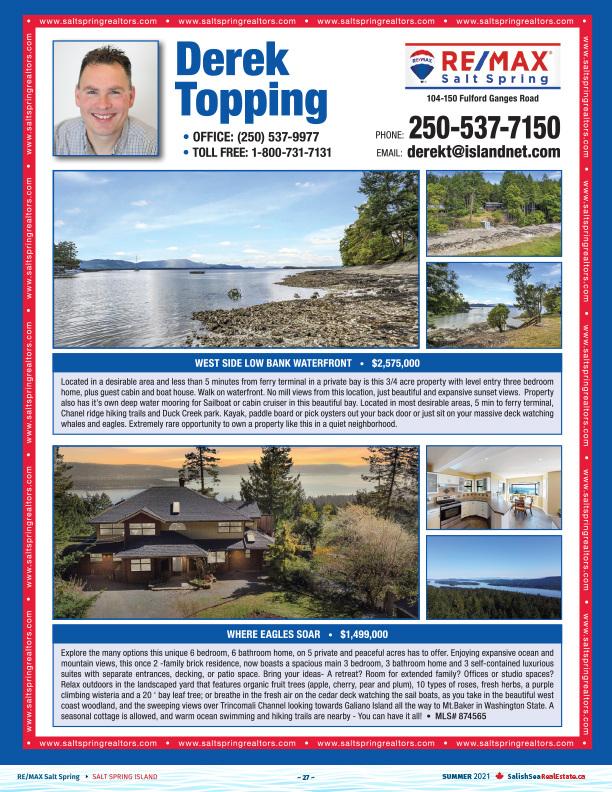 Salish Sea Real Estate Derek Topping